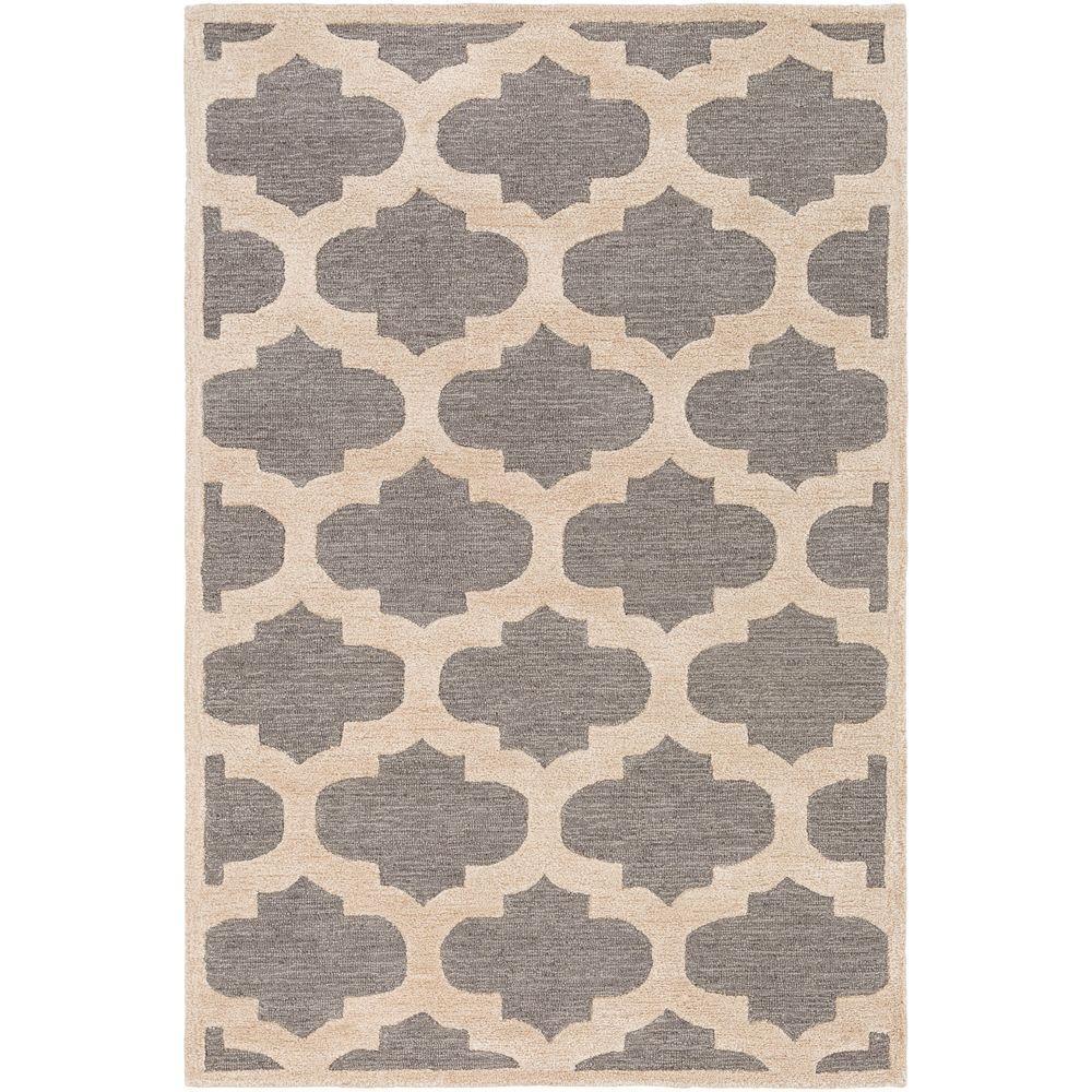 artistic rug artistic weavers arise hadley gray 4 ft. x 6 ft. indoor area rug RFHBZTD