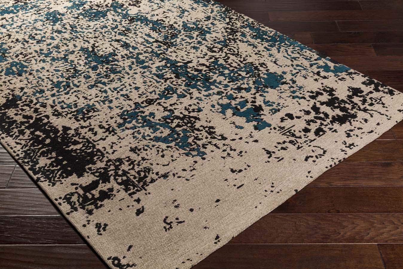 artistic rug artistic weavers egypt egt-3076 lara dark teal/grey rug NTRDGLJ