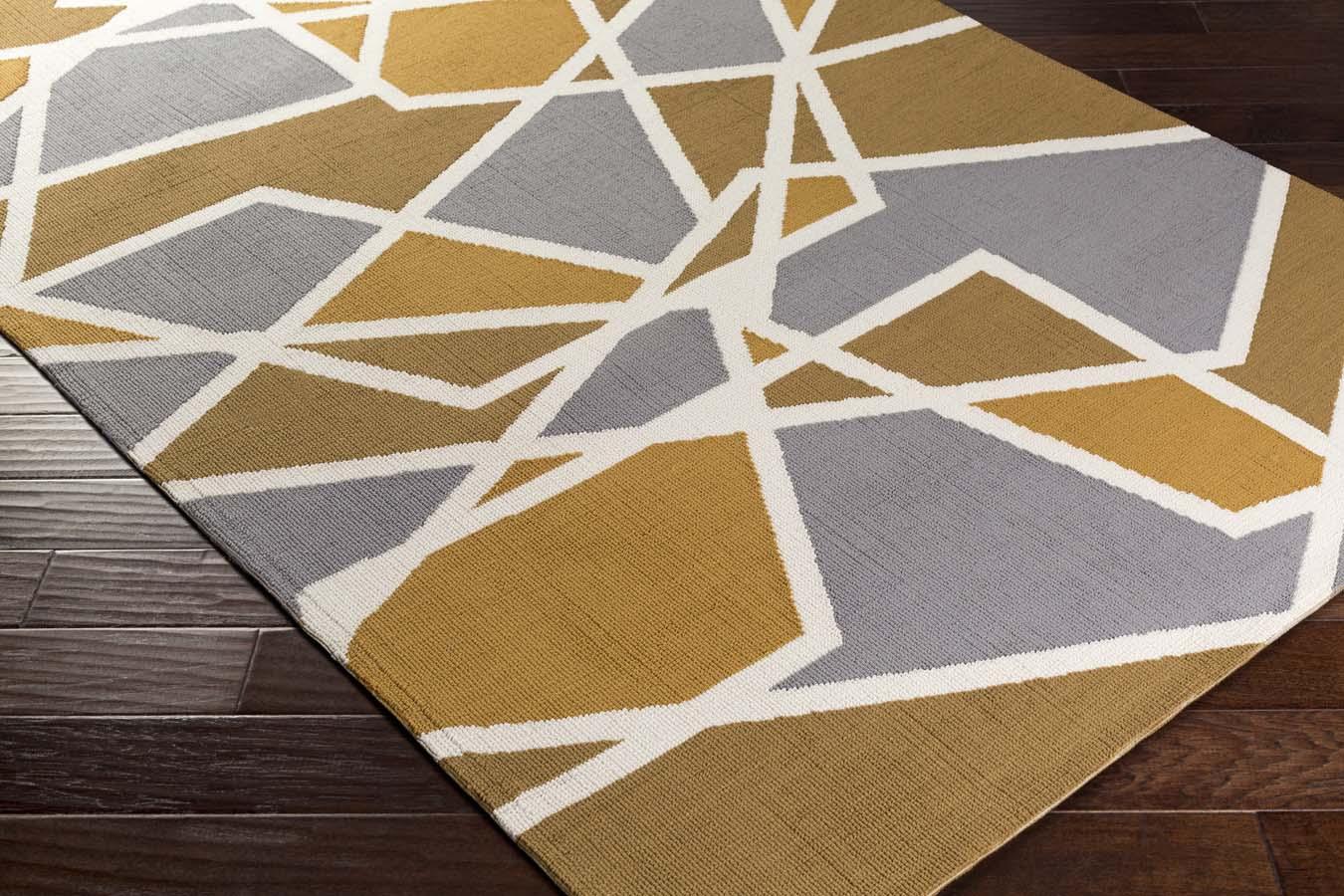 artistic rug artistic weavers joan joan-6072 holloway gold/dark gold/grey rug JUSYLEK