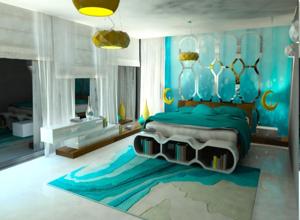 artistic rug awesome turquoise bedroom ideas with aqua theme also unique bookshelf under  the BOEUTOW