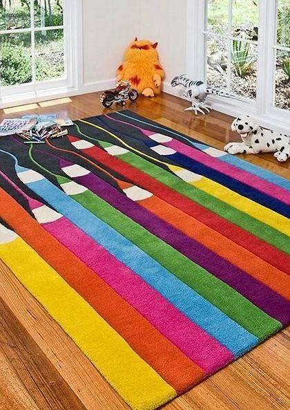 artistic rug colourful kids pencils rug. YHVAEBM