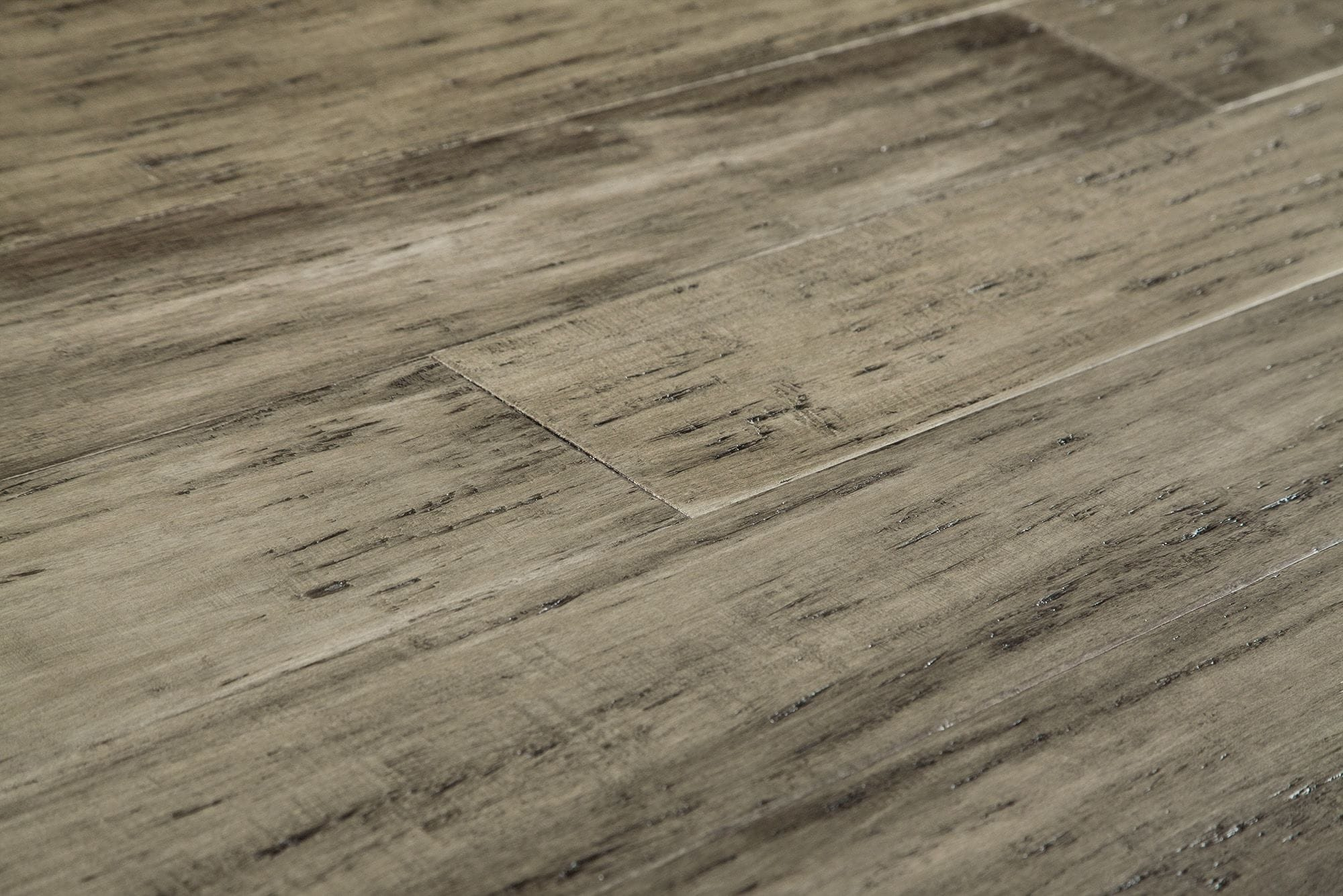 bamboo flooring free samples: yanchi 12mm distressed wide-plank click-lock solid strand  woven bamboo rustic BBBOHWW