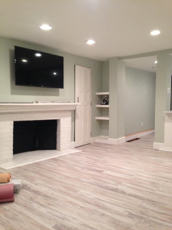 basement flooring this floor combines the look of hardwood with the ease of vinyl. itu0027s WQOMGOP