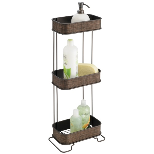 bathroom caddies three-tier bath caddy - bronze image UKPHGOG