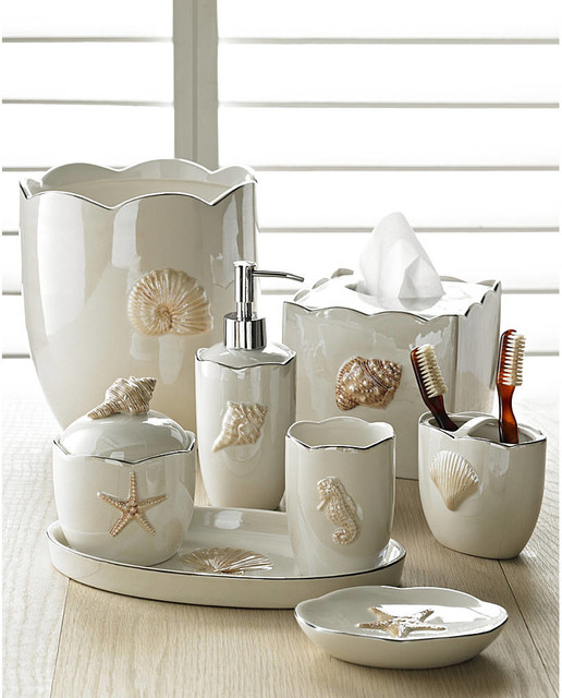 Bathroom Decor Sets ... bathroom decor sets beach style bathroom accessories LEZNRPG