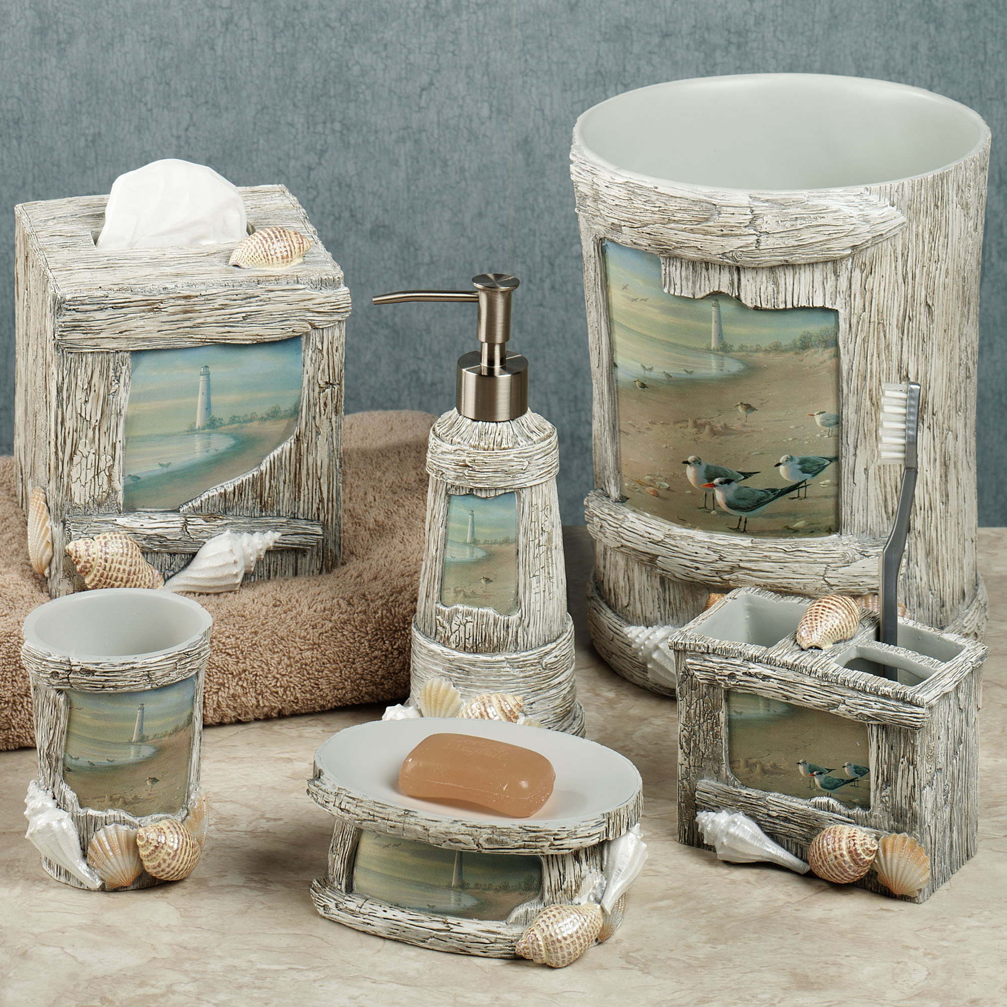 Bathroom Decor Sets enjoyable lighthouse apothecary bath accesories nautical bathroom decor sets  for decorate ocean BLBKJTK