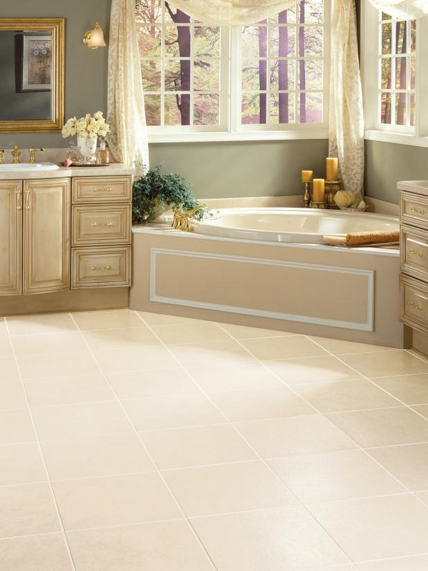 Bathroom flooring vinyl bathroom floors | hgtv USVEMSZ