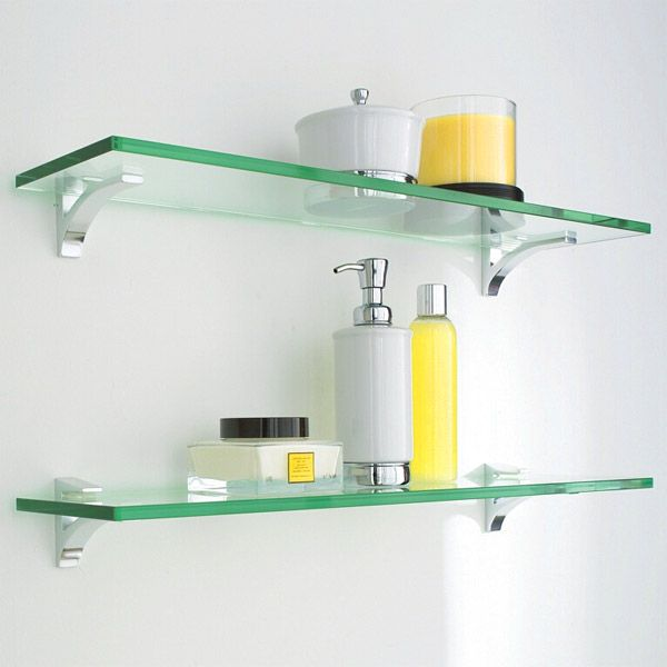 Bathroom Glass Shelves glass shelf clip kits shelves and chrome GALBGIQ