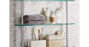Bathroom Glass Shelves mercer triple glass shelf GVWNHDY