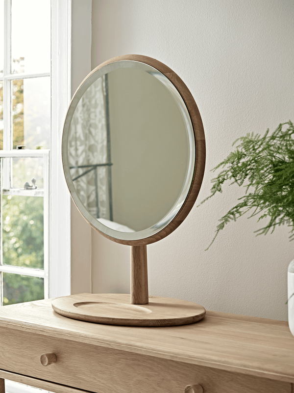 bergen oak dressing table mirror VQABXRZ