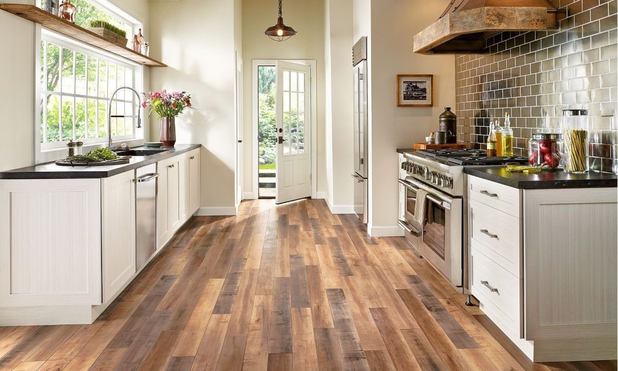 best flooring options best budget-friendly kitchen flooring options PEPEVAQ