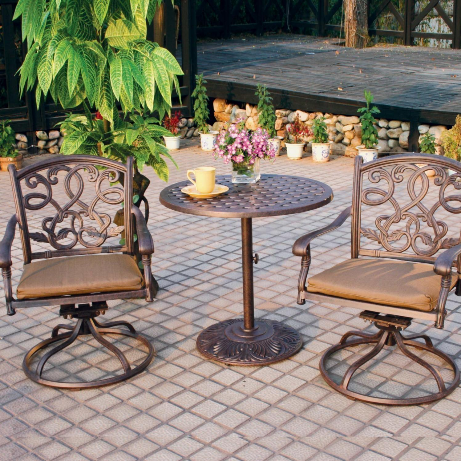 Bistro Sets darlee santa monica 3 piece patio bistro set SYAEUSM
