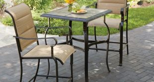 Bistro Sets hampton bay belleville 3-piece padded sling outdoor bistro set NPOONZR