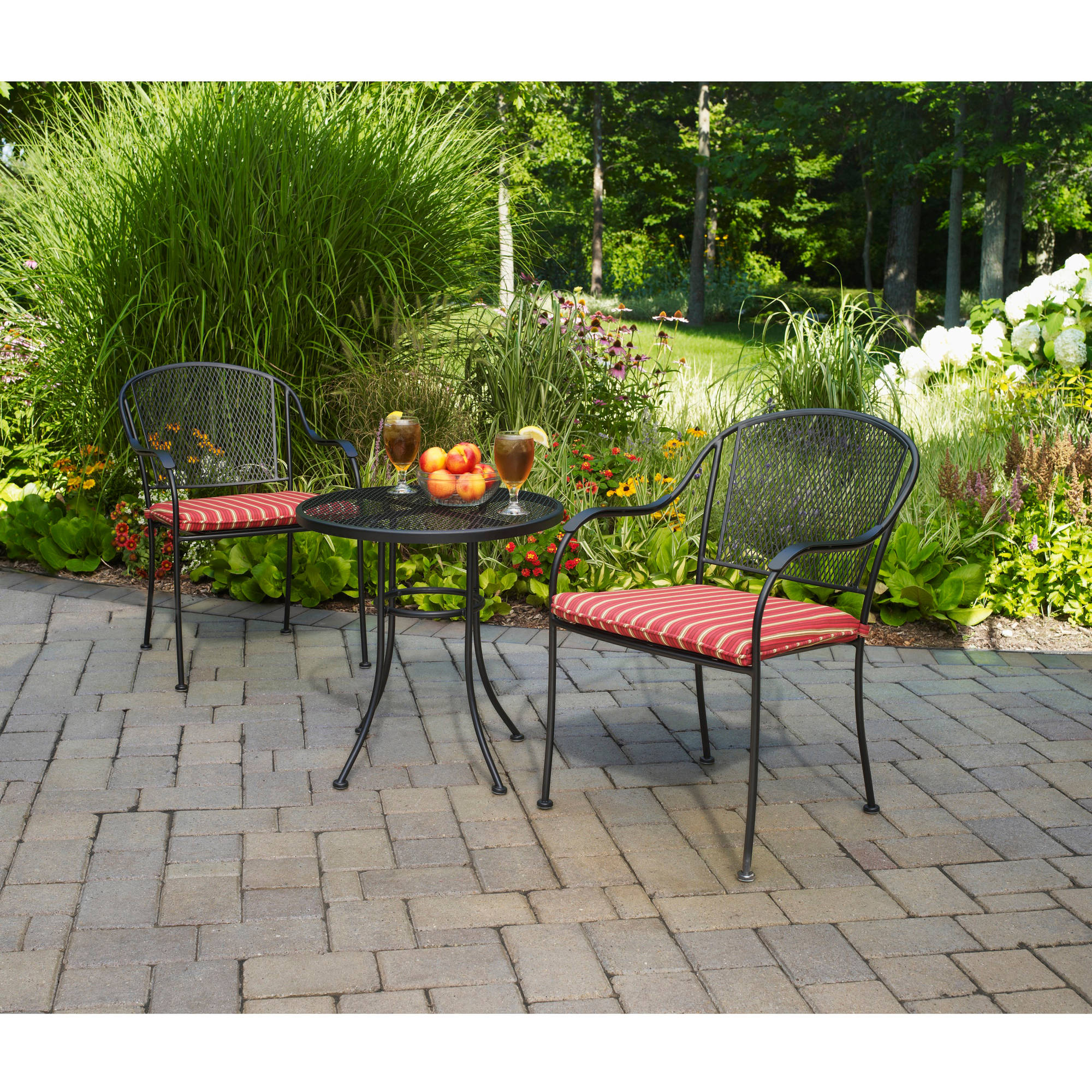 Bistro Sets mainstays forest hills 3-piece outdoor bistro set, multiple colors -  walmart.com DJZKLYD