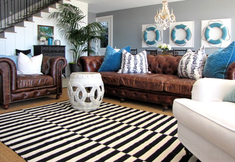 black and white rug decor how to enhance a décor with a black and white striped rug OKHXFRJ