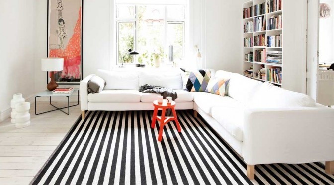 black and white rug decor striped rug header UHHFBSW