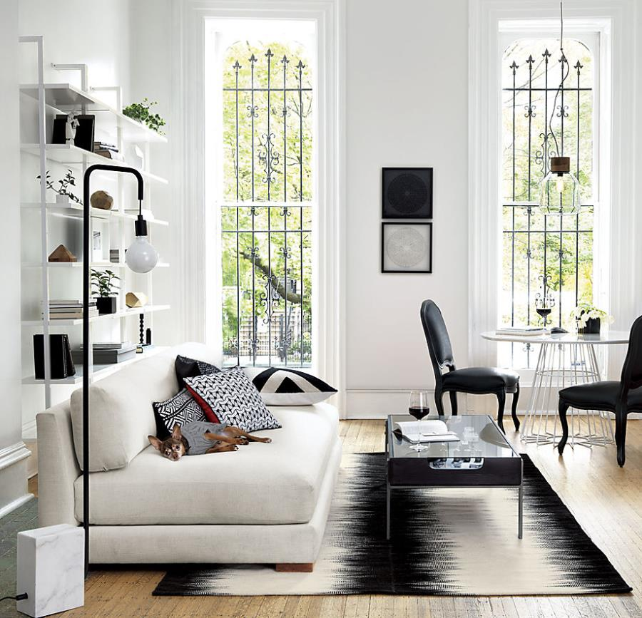 black and white rug decor view in gallery modern black and white rug from cb2 IIMPHSH