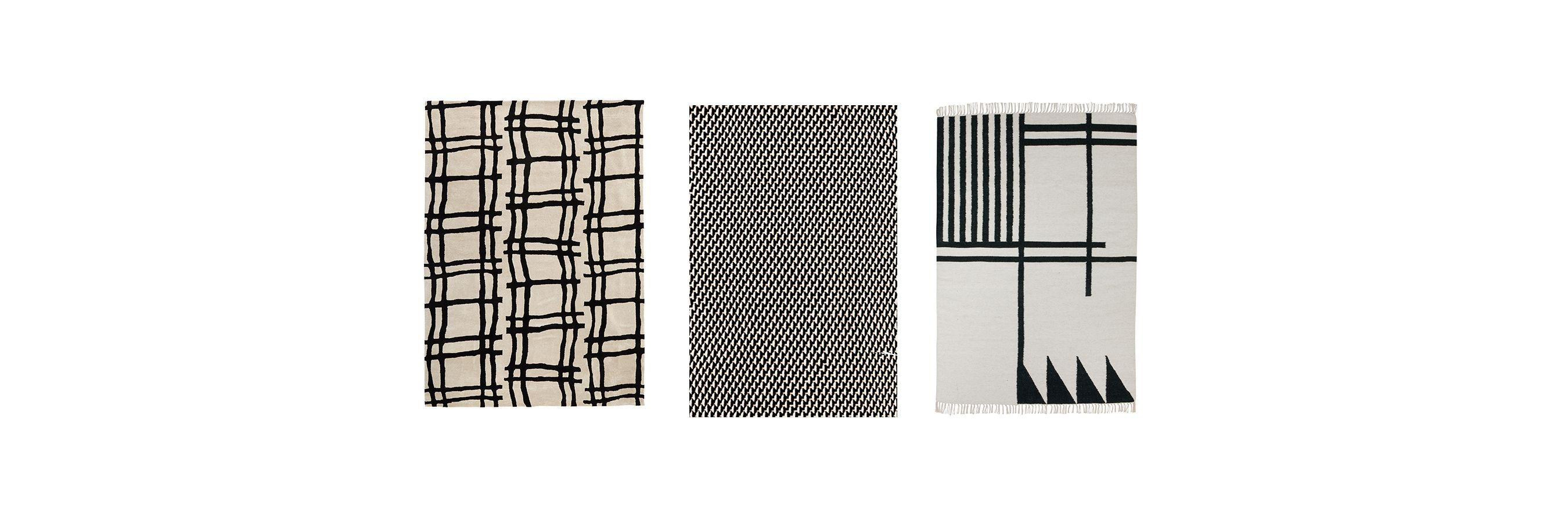 black and white rugs TOSWMFM