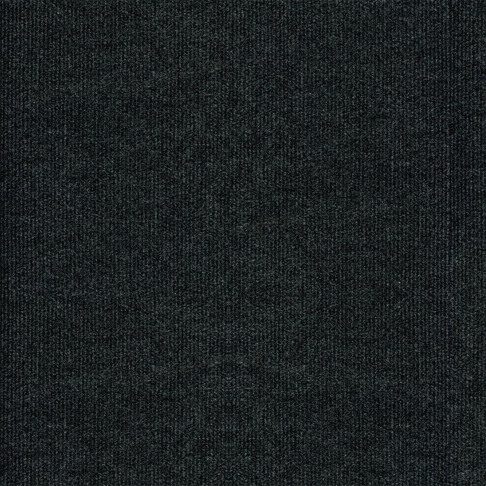 black carpet trafficmaster ribbed gunmetal texture 18 in. x 18 in. carpet tile (16 tiles YXBKHRZ