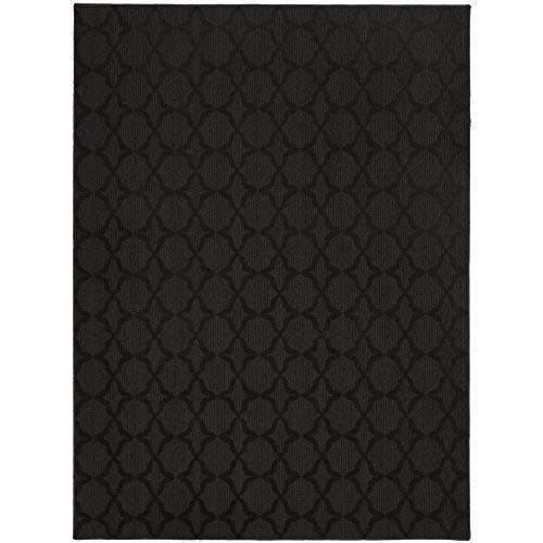 Black rugs garland rug sparta area rug, 5-feet by 7-feet, black UBTQNSV
