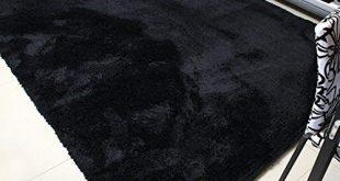 Black rugs mbigm super soft modern area rugs, living room carpet bedroom rug, nursery DARLNCC