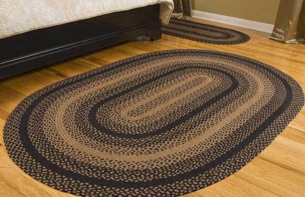 braided rugs ebony jute braided rug JPUTSKL