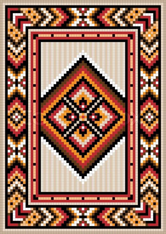 carpet design images asian design in the frame for carpet | stock vector | colourbox JXLXPIT