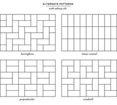 carpet installation patterns alternate patterns with subway tile // smitten studio via nubby twiglet ZQGQXSU