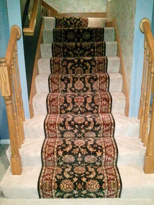 carpet runner on carpet stair runner installed over carpet kansas city HPODTYJ