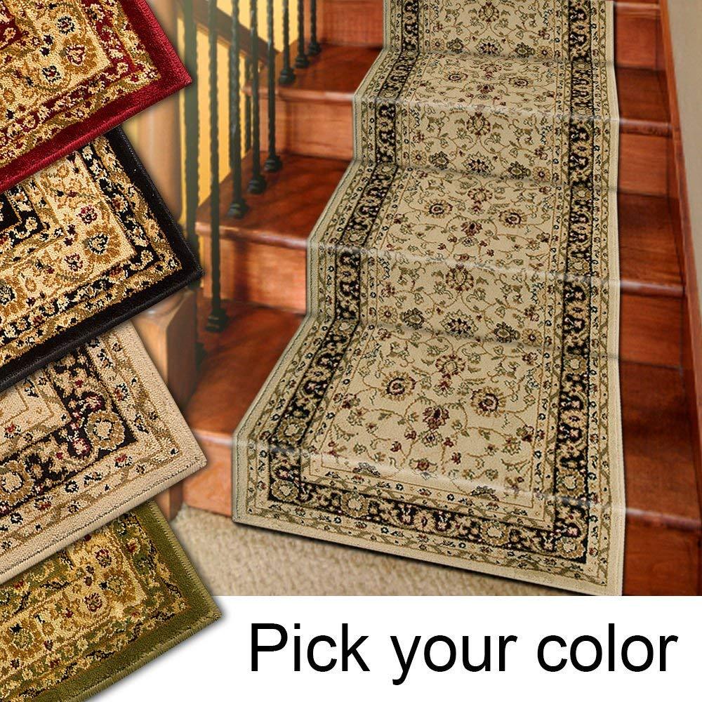 carpet runners amazon.com: 25u0027 stair runner rugs - marash luxury collection stair carpet  runners KZNJAMT