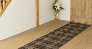 carpet runners tartan brown hallway carpet runner KJSUZCE