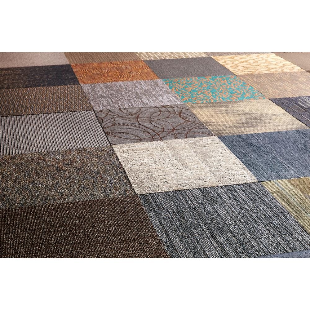 carpet tiles versatile assorted commercial pattern 24 in. x 24 in. carpet tile (10 tiles CGWTHAR