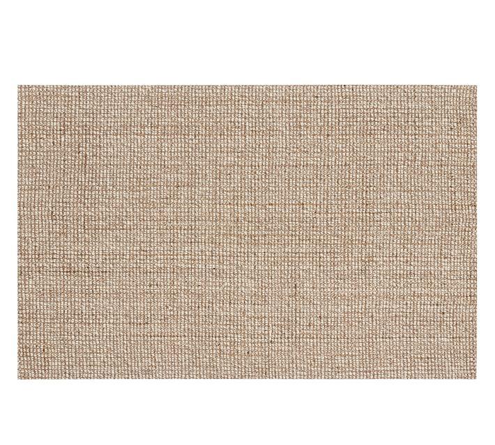 chunky wool u0026 jute rug - natural | pottery barn HOYNSIN