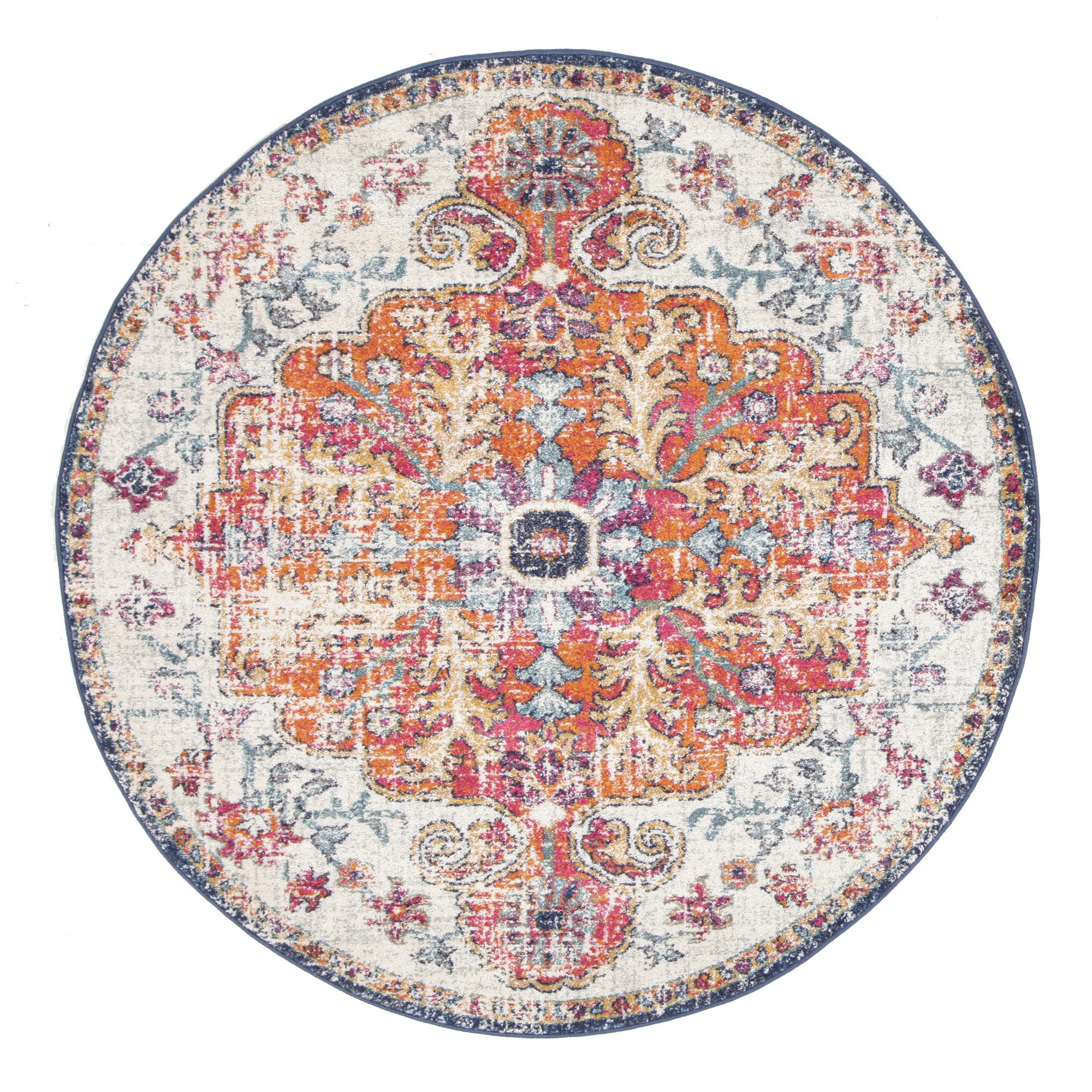 circular rugs bone, white u0026 round art moderne louvre rug FAOMGOK
