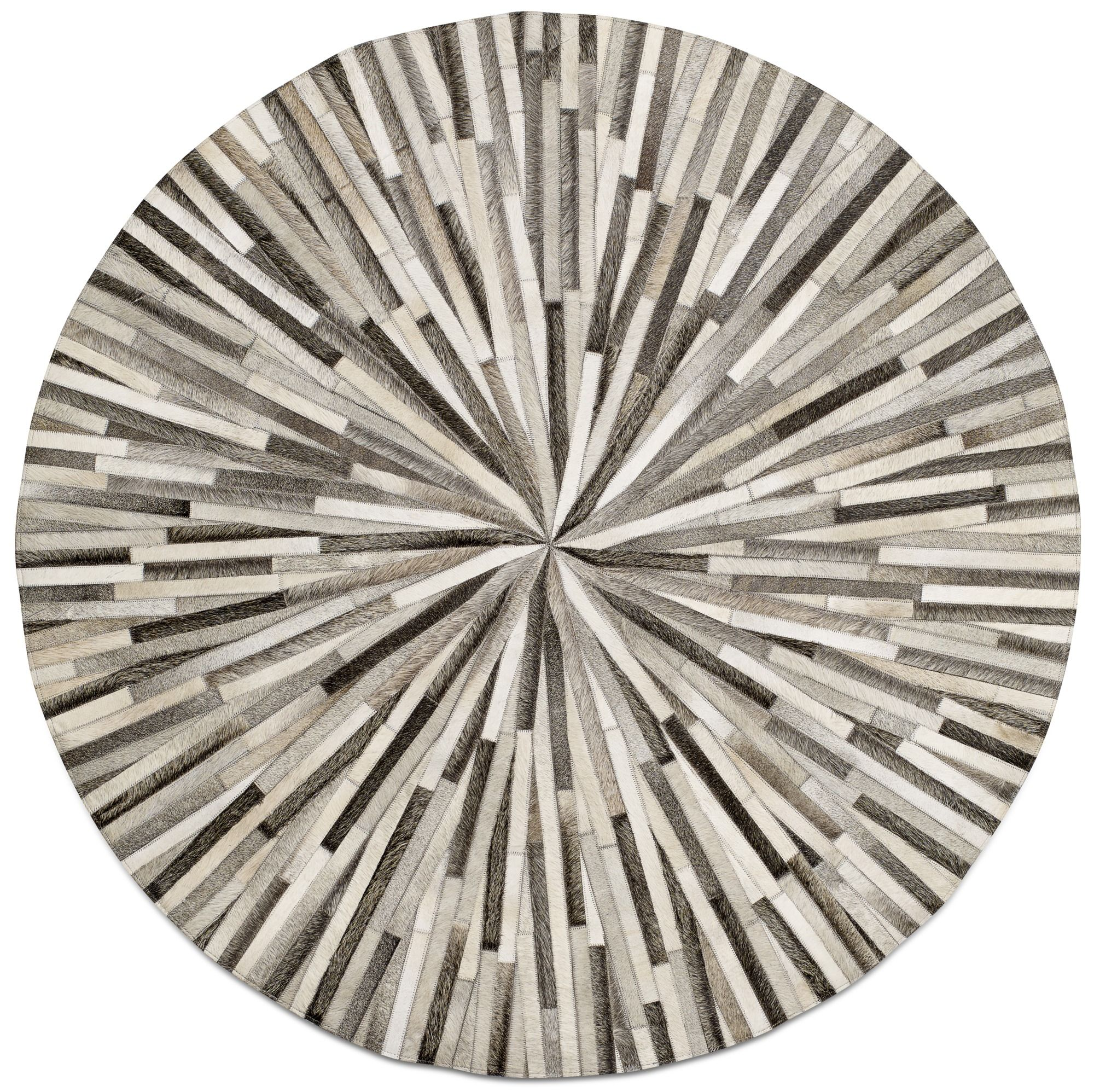 circular rugs grey cowskin 150cm diameter contemporary round rugs - quality from boconcept MYWDSEK