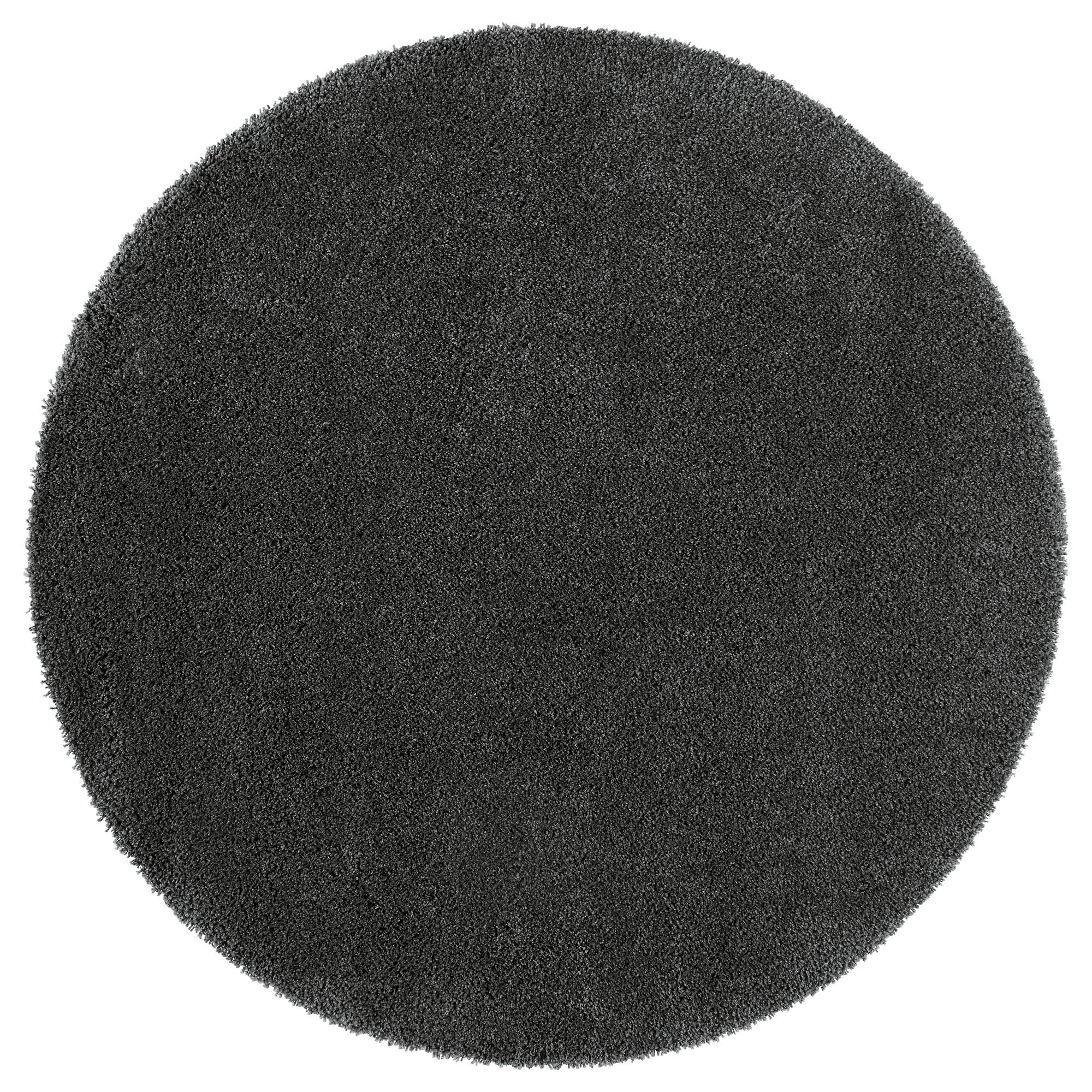 circular rugs photo 3 of 5 ådum rug, high pile, dark gray diameter: 4 u0027 RIKZTLN