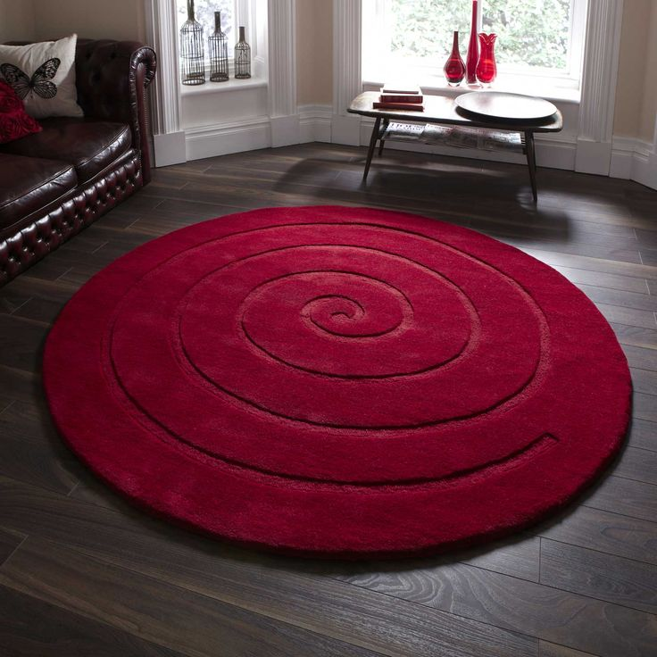 circular rugs the spiral circular rug in red is hand made in india with a OSHTBWL