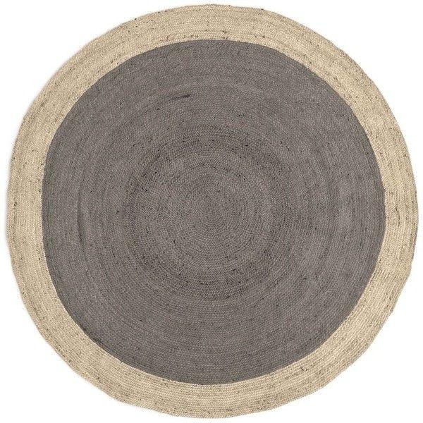 circular rugs west elm spo bordered round jute rug, 6u0027 round, platinum (5 855 OHJEPTL