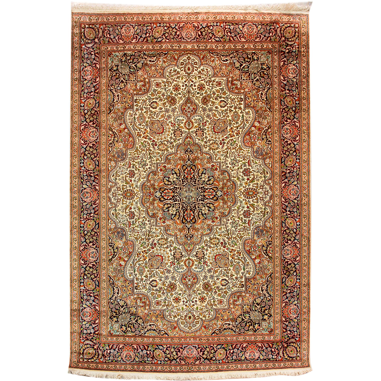 classic rugs :: kashmir silk exclusive 275 x 187cm oriental silk rug - ZHEVHUW