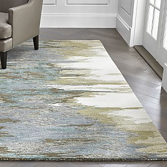 contemporary area rugs birch cyan wool-blend abstract rug AYCYMSR