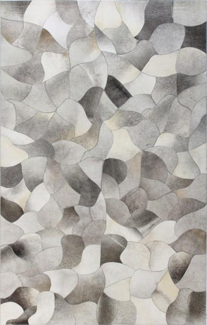 contemporary area rugs jada gray cowhide area rug, ... NOXONQT