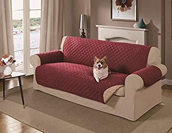 couch cover amazon.com : mason reversible sofa cover, red : pet supplies XEZJVME