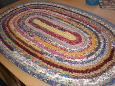 crochet rag rug a home grown journal: crocheted rag rug tutorial: part four KSMHVTQ