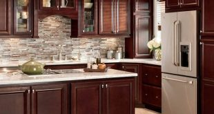 cupboards for kitchens shop shenandoah bluemont 13-in x 14.5-in bordeaux cherry square cabinet  sample at UJBHAYD