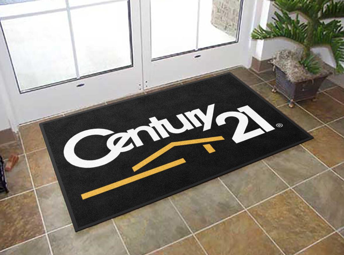 custom rugs century 21 real estate logo rug PMAMEDQ