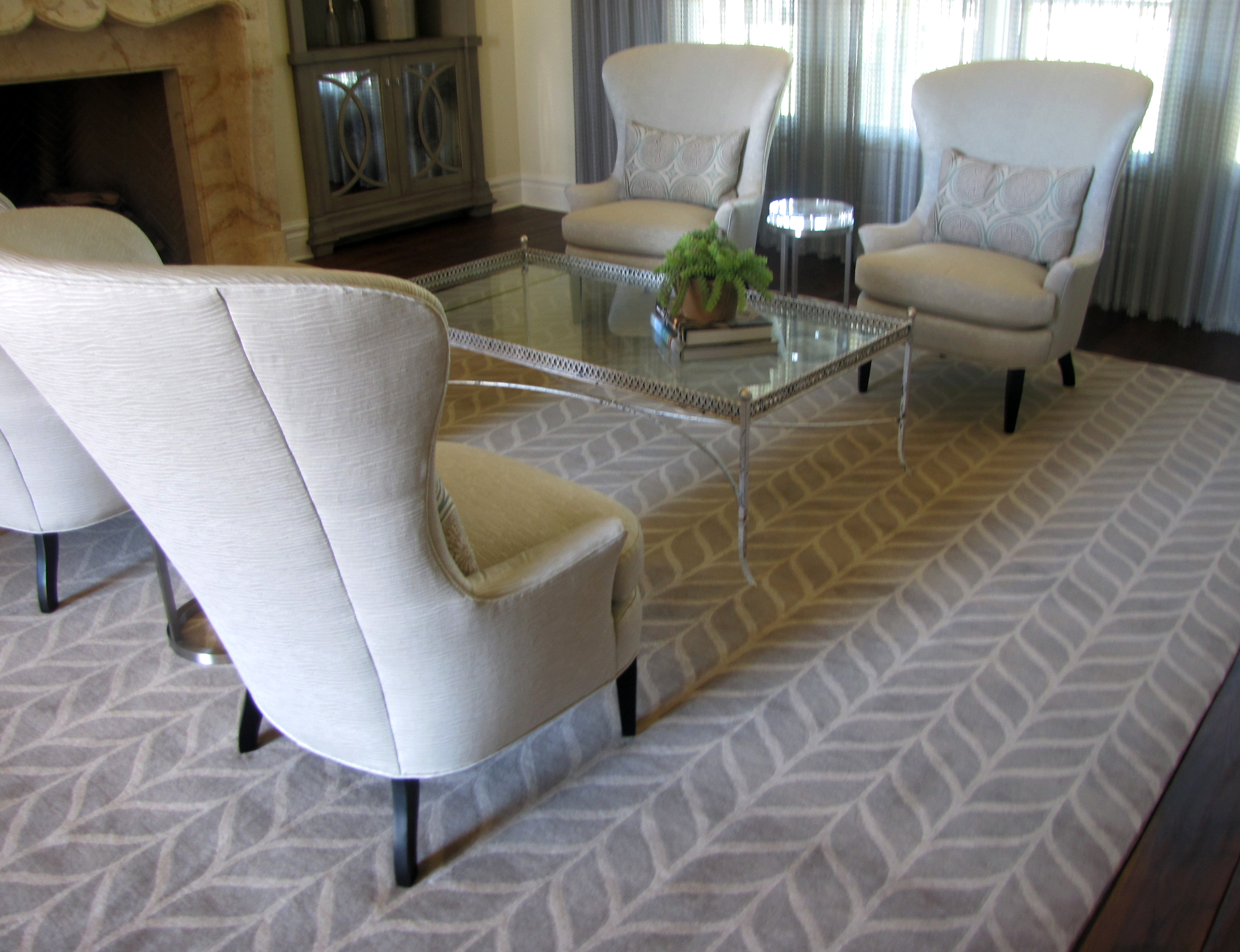 custom rugs demonstrated: client designs own rug ZIEUVNA