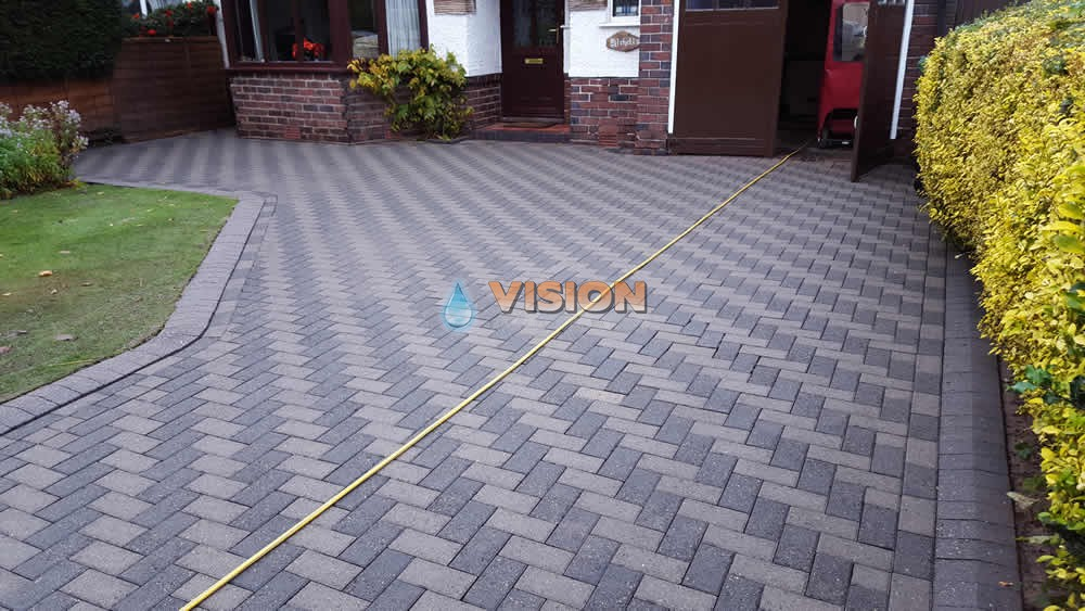 dark block paving after CZTIHOI