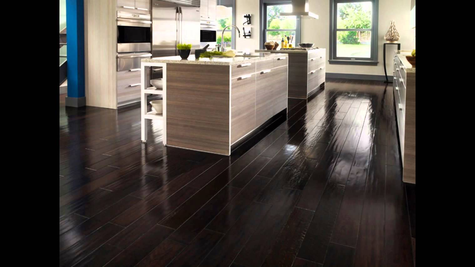dark hardwood floors | dark hardwood floors and dark kitchen cabinets IYLXODF