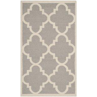dhurrie rugs dhurries dark grey/ivory area rug PGYVVSF