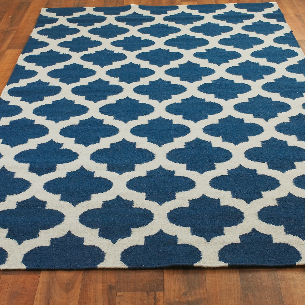 dhurrie rugs ironwork trellis dhurrie rug cobalt_blue_ivory CLHQPAY